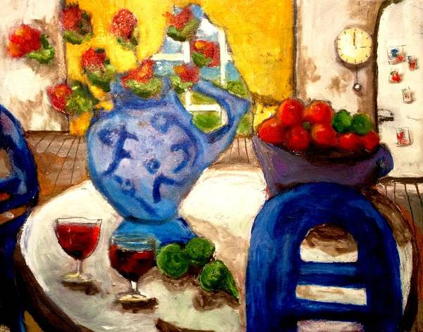 Painting - Still Life With Wine Glasses by Dilip Sheth