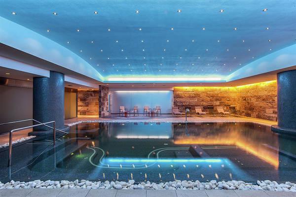 Home Interior Photograph - Still Modern Indoor Pool by Antonio Saba
