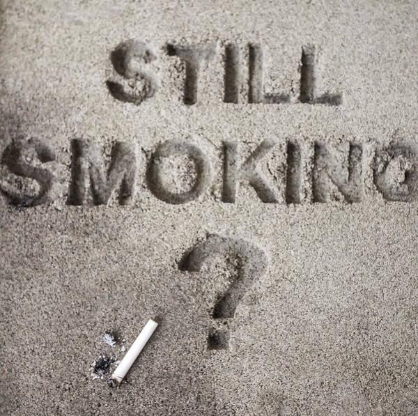 Photograph - Still Smoking? Image Art by Jo Ann Tomaselli