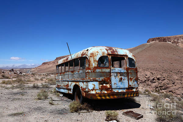 Autobus Photograph - Still Waiting For Roadside Assistance by James Brunker