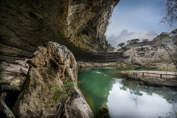 Photograph - Still Waters At Hamilton Pool by David Morefield