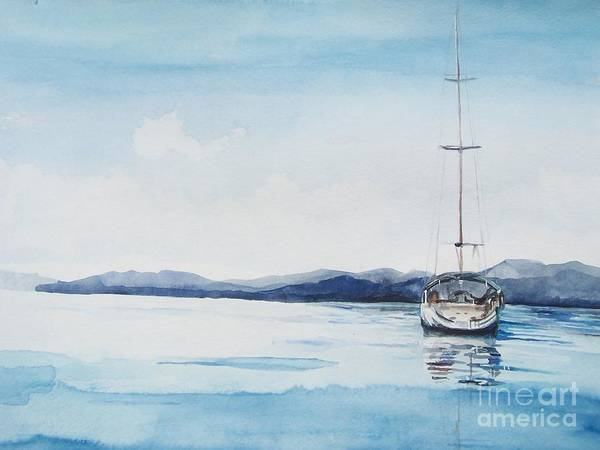 Painting - Still Waters by Kathy Laughlin