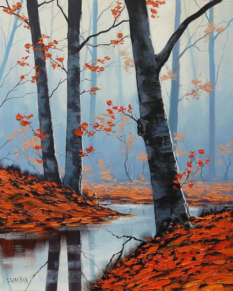 Amber Wall Art - Painting - Still Woodland by Graham Gercken
