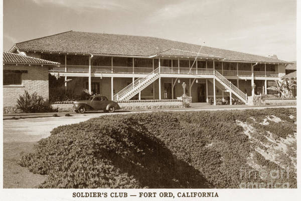 Photograph - Stilwell Hall Soldiers Club Fort Ord Army Base Monterey Calif. 1950 by California Views Archives Mr Pat Hathaway Archives