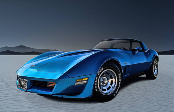 Corvette Wall Art - Digital Art - Stingray Blues by Douglas Pittman