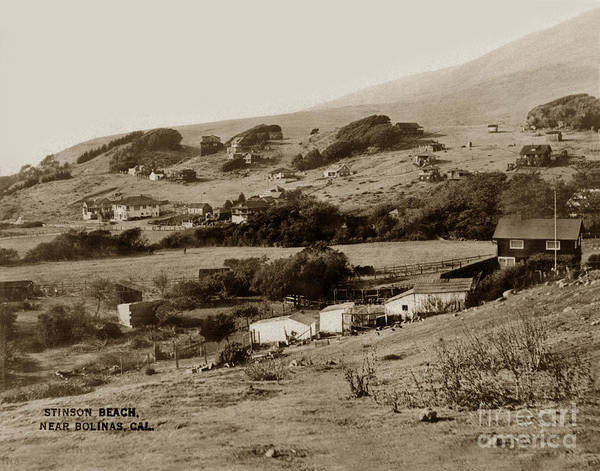 Photograph - Stinson Beach Near Bolinas California 1930 by California Views Archives Mr Pat Hathaway Archives