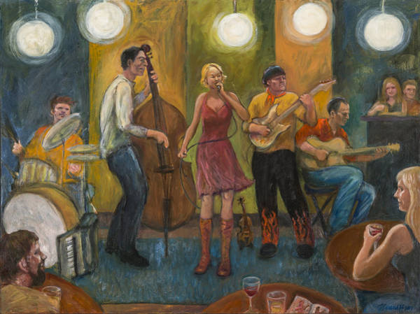 Painting - Stirfry At The Cafe by Laura Lee Cundiff