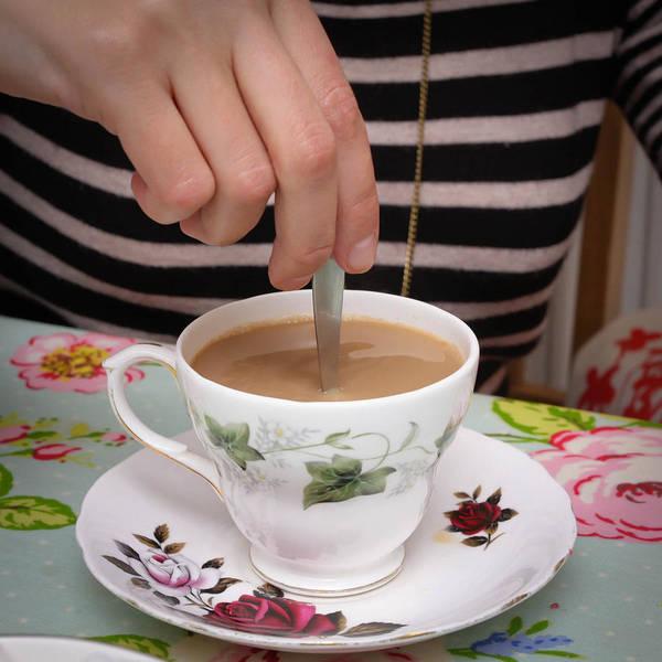 Blue Spoon Photograph - Stirring Tea  by Tom Gowanlock