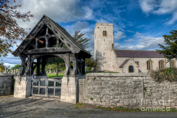 Grave Yard Photograph - St.marcellas Entrance by Adrian Evans