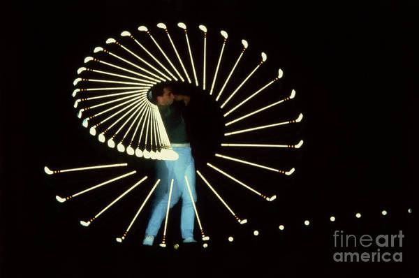 Photograph - Stroboscopic Golf Swing by Michel Hans Vandystadt
