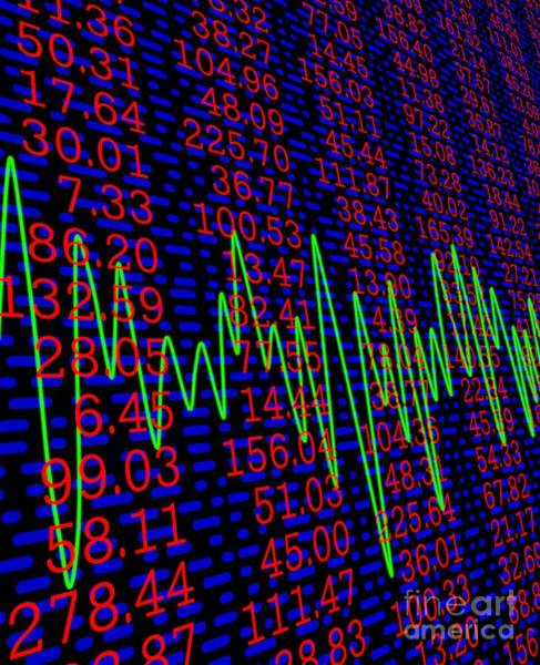 Wall Art - Photograph - Stock Market Indices, Figures And Prices by David Parker