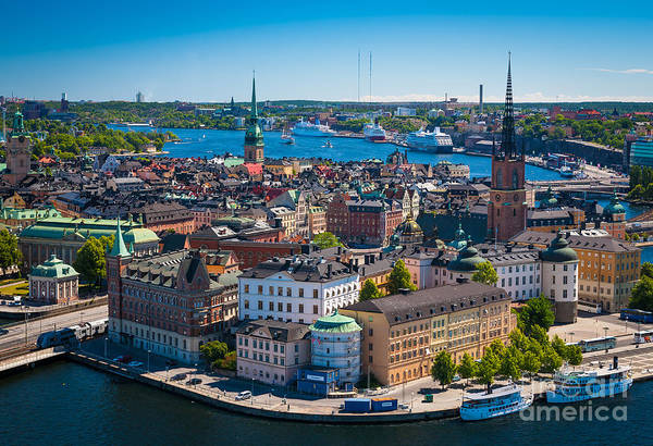 Scandinavia Photograph - Stockholm From Above by Inge Johnsson