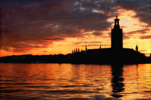 Photograph - Stockholms Stadshus At Sunset - Stockholm - Sweden by Photography  By Sai