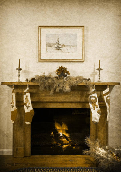 Wall Art - Photograph - Stockings Hung By The Chimney by John Stephens