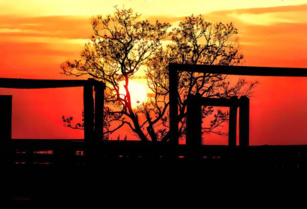 Photograph - Stockyard Sunset by Lucy VanSwearingen