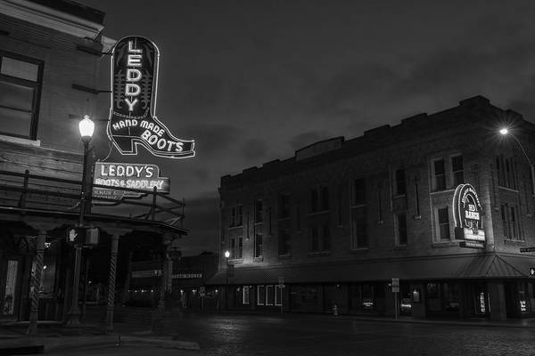 Photograph - Stockyards Main And Exchange Bw by Jonathan Davison