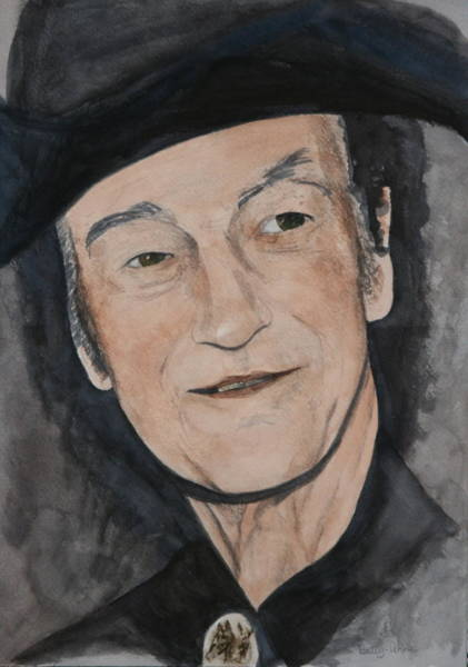 Stompin Tom Painting - Stompin Tom Connors by Betty-Anne McDonald