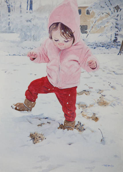 Painting - Stomping In The Snow by Christopher Reid