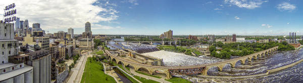 Photograph - Stone Arch Bridge From The Air by Mike Evangelist
