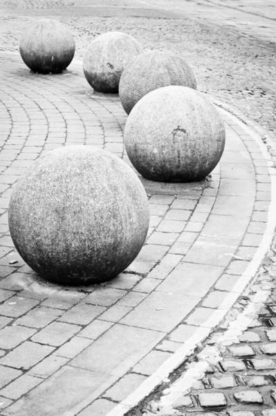 Financial Centre Photograph - Stone Balls by Tom Gowanlock