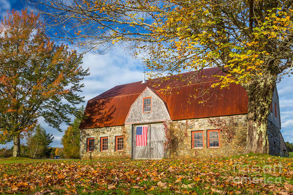 Photograph - Stone Barn Fall by Susan Cole Kelly