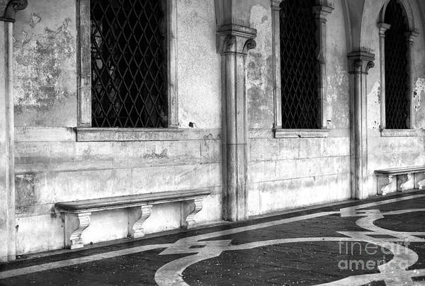Wall Art - Photograph - Stone Bench In Venice by John Rizzuto