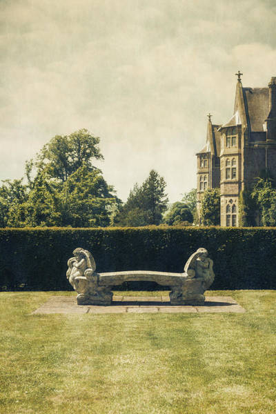 English Garden Photograph - Stone Bench by Joana Kruse