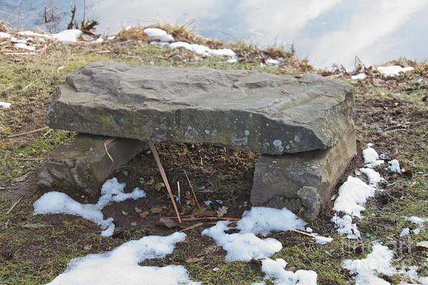 Photograph - Stone Bench by William Norton