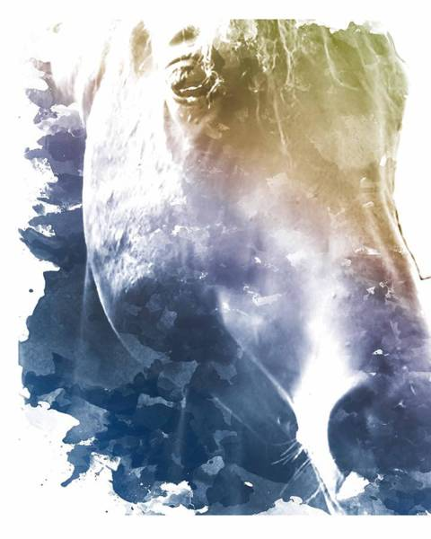 Wall Art - Digital Art - Stone Blue Mare by Diana Shively