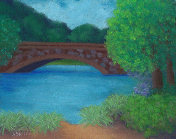 Pastel - Stone Bridge by Anne Katzeff