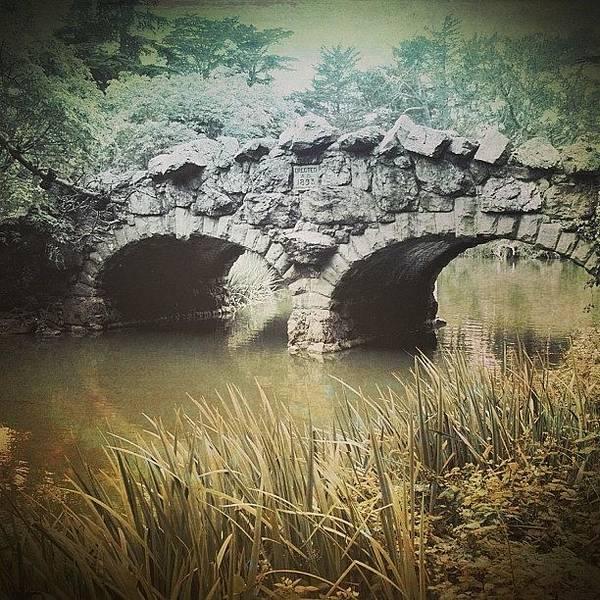 Road Photograph - Stone Bridge by Jill Battaglia