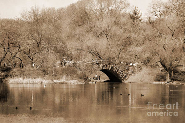Photograph - Stone Bridge Over The Lake In Central Park Vintage by RicardMN Photography