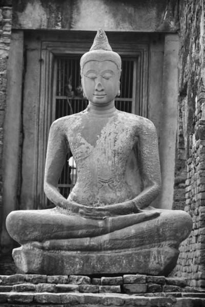 Photograph - Stone Buddha by Adam Romanowicz