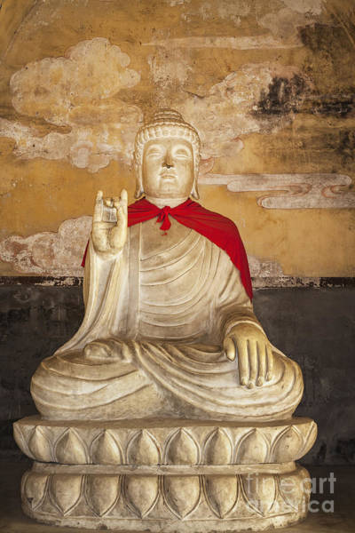 Photograph - Stone Buddha At Tibetan Buddhist Monument by Bryan Mullennix