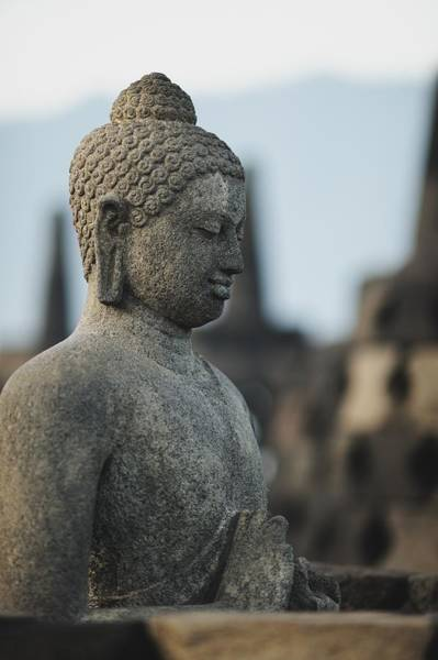 Indonesian Culture Photograph - Stone Buddha Statue by Carlina Teteris