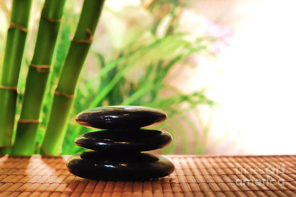 Bamboo Photograph - Stone Cairn by Olivier Le Queinec