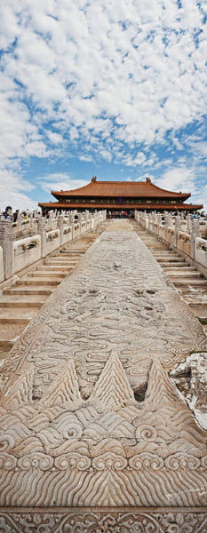 Forbidden City Photograph - Stone Carved Stairway At Hall by Panoramic Images