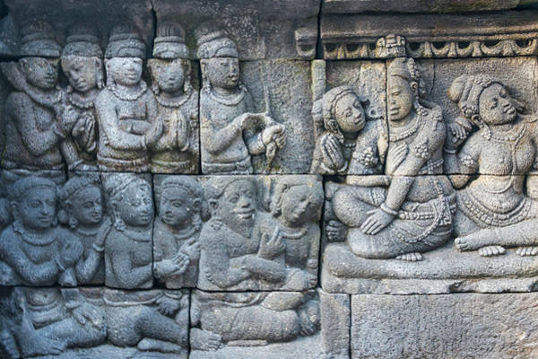 Central Asia Photograph - Stone Carving At Borobudur, Unesco by Keren Su