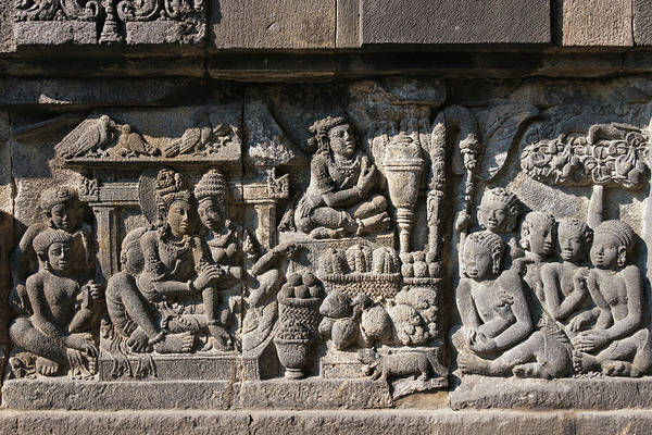 Central Asia Photograph - Stone Carving At Prambanan Temple by Keren Su