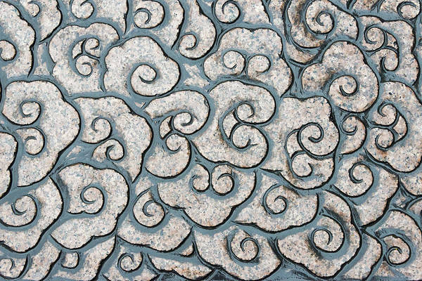 Wall Art - Photograph - Stone Carving Of Cloud Pattern by Keren Su
