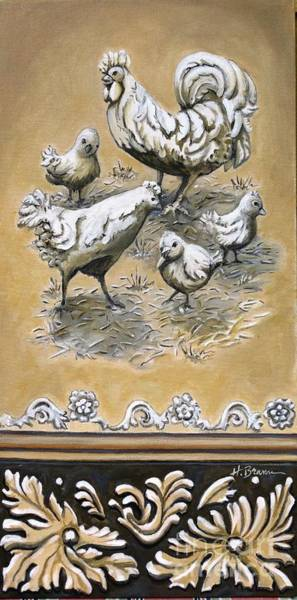 Holly Brannan Wall Art - Painting - Stone Chickens by Holly Bartlett Brannan