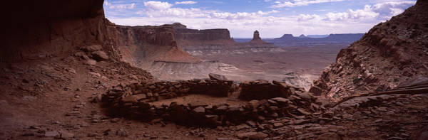 False Color Wall Art - Photograph - Stone Circle On An Arid Landscape by Panoramic Images