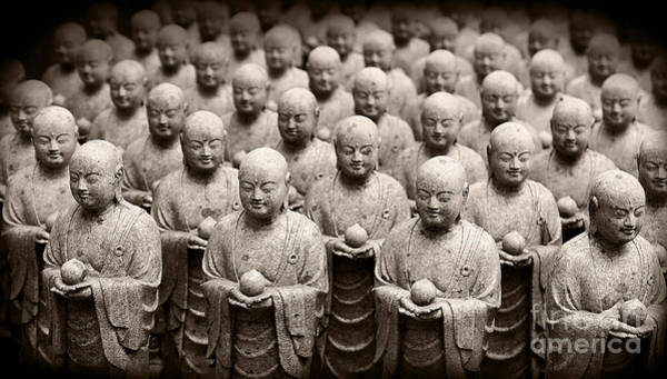 Stone Figures Of Jizo Art Print