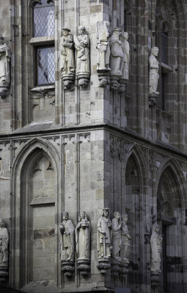 Glockenspiel Photograph - Stone Figures On Rathaus Cologne Germany by Teresa Mucha