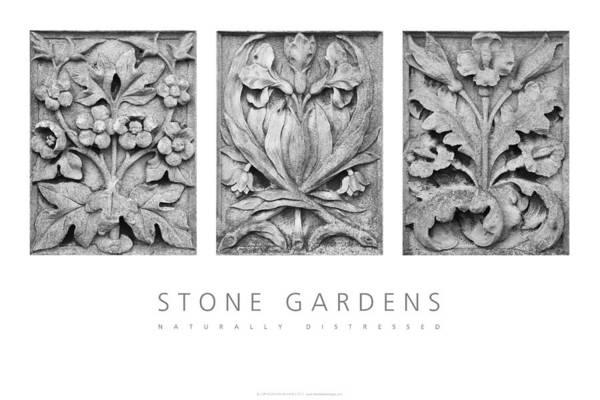 Digital Art - Stone Gardens 2 Naturally Distressed Poster by David Davies