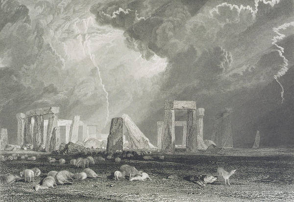 Stone Drawing - Stone Henge by Joseph Mallord William Turner