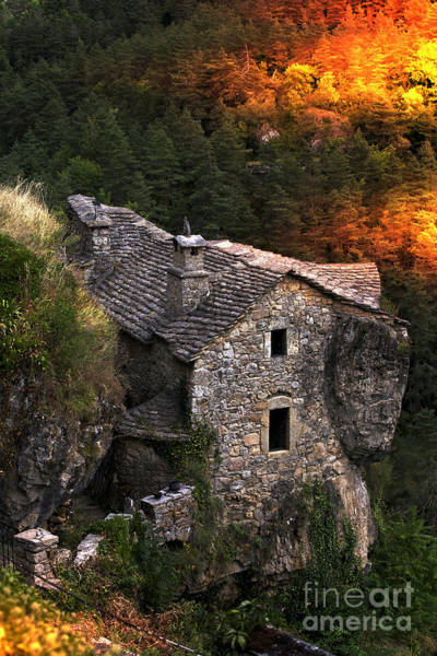 Photograph - Stone House In The Jonte Canyon - France by Heiko Koehrer-Wagner