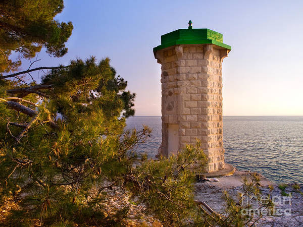 Losinj Photograph - Stone Lighthouse by Sinisa Botas