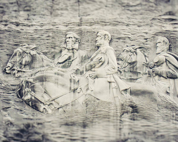 Lisa Russo Wall Art - Photograph - Stone Mountain Georgia Confederate Carving by Lisa Russo