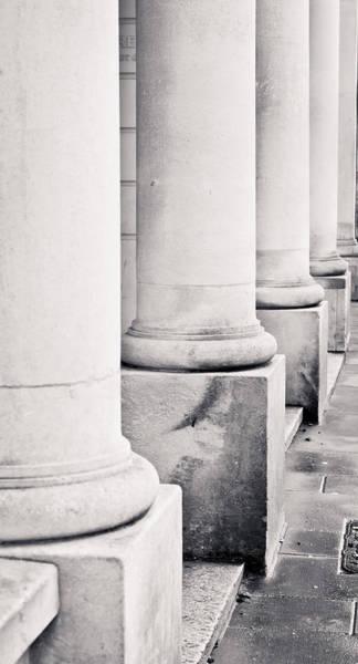Court House Photograph - Stone Pillars by Tom Gowanlock